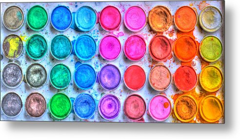 Paint Metal Print featuring the photograph Watercolor by Heidi Smith