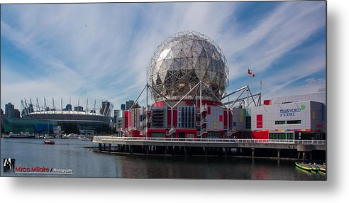 Landscape Metal Print featuring the photograph False Creek by Mirco Millaire