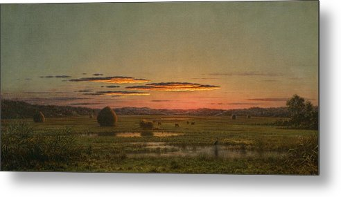 Sunset Metal Print featuring the painting Sunset by Martin Johnson Heade