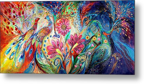 Judaica Metal Print featuring the painting The Colors Of Day by Elena Kotliarker