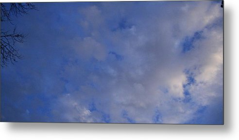 Clouds Metal Print featuring the photograph Cloudy Twigs by Joshua Sunday