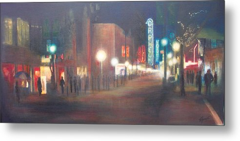 Downtown Metal Print featuring the painting Glow by Victoria Heryet