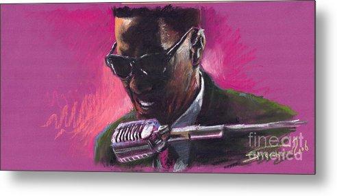 Jazz Metal Print featuring the painting Jazz. Ray Charles.1. by Yuriy Shevchuk