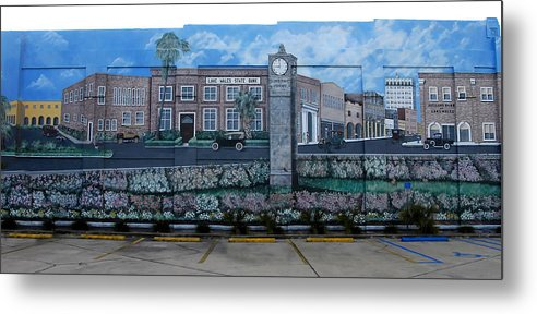 Photography Metal Print featuring the photograph Lake Wales Florida Mural by David Lee Thompson