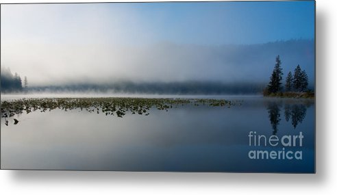Fernan Lake Metal Print featuring the photograph Reflected Mists by Idaho Scenic Images Linda Lantzy