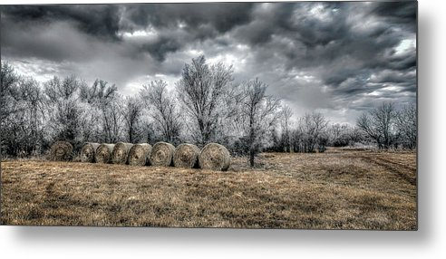 Winter On Canvas Metal Print featuring the photograph The Cold by Garett Gabriel