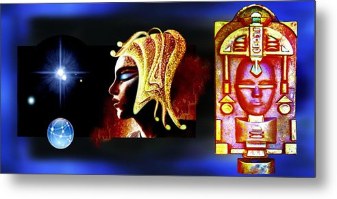 Alien Culture Metal Print featuring the painting Alien Art by Hartmut Jager