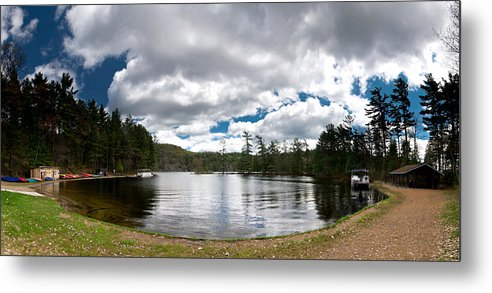 Canoe Metal Print featuring the photograph Bon Echo Lagoon Panorama by Cale Best