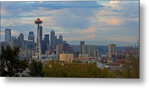 Seattle Metal Print featuring the photograph Glorious Seattle by Shari Sommerfeld