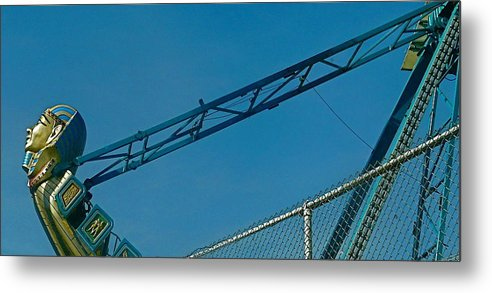 Amusement Ride. Fantasy Metal Print featuring the photograph Ima's Almost There by Jacqueline Howe