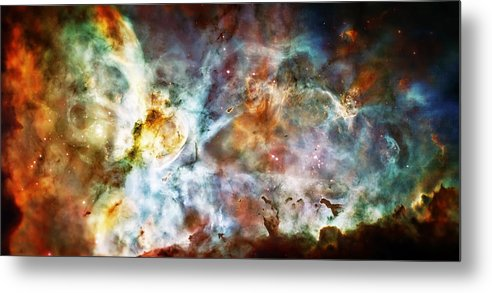 Universe Metal Print featuring the photograph Star Birth In The Carina Nebula by Jennifer Rondinelli Reilly - Fine Art Photography