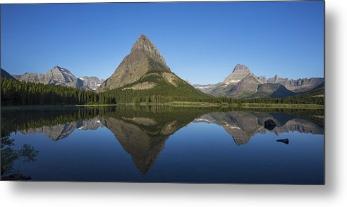 Gould Metal Print featuring the photograph Swiftcurrent Panorama by Ross Murphy