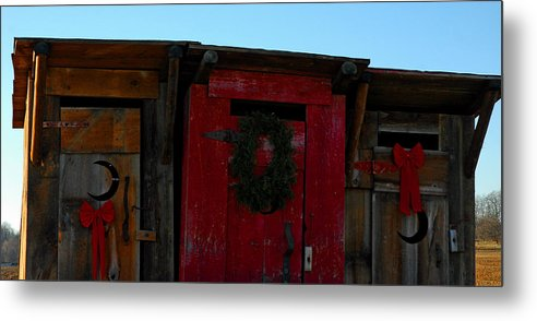 Usa Metal Print featuring the photograph Christmas Out Houses For Sale by LeeAnn McLaneGoetz McLaneGoetzStudioLLCcom