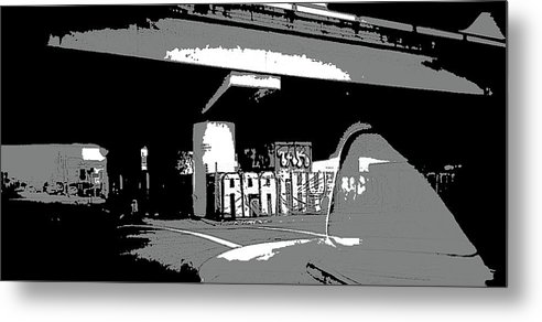 Art Metal Print featuring the photograph Apathy Avenue by Ryan Fox