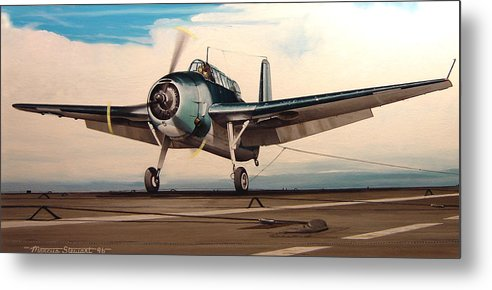 Painting Metal Print featuring the painting Coming Aboard by Marc Stewart