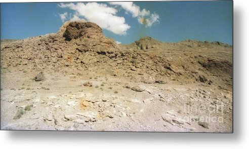 Dry Metal Print featuring the photograph Desert Sand And Rock by Ted Pollard