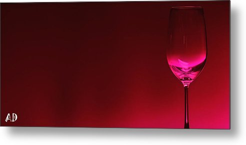 Wine Metal Print featuring the digital art Glass Of Wine by Abhijeet Dhidhatre