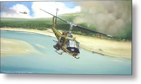 Military Metal Print featuring the painting Hunter Hueys by Marc Stewart