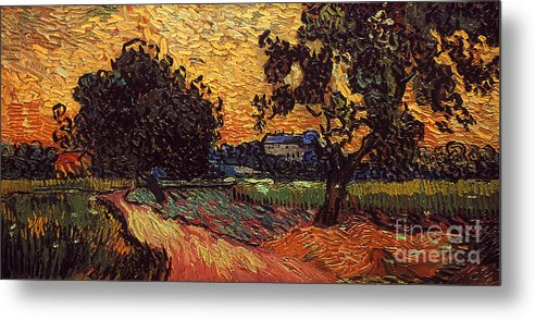 1890 Metal Print featuring the photograph Van Gogh: Castle, 1890 by Granger