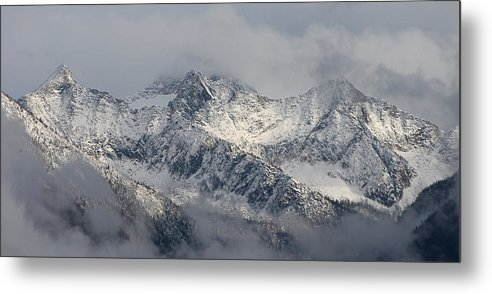 Mountain Metal Print featuring the photograph Winter On The Way by Cathie Douglas