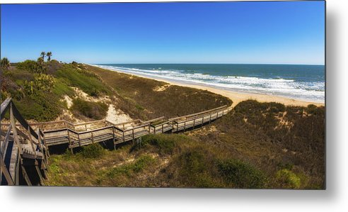Atlantic Ocean Metal Print featuring the photograph Ponte Vedra Beach by Raul Rodriguez
