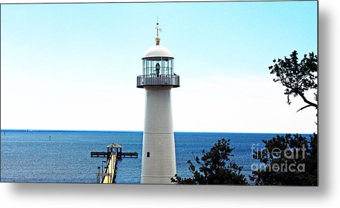 Seascape Metal Print featuring the photograph Biloxi Lighthouse 4 by Earl Johnson