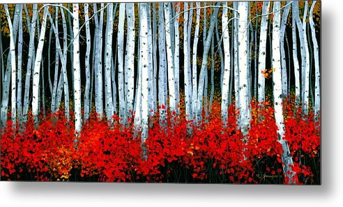 Birch Metal Print featuring the painting Birch 24 X 48 by Michael Swanson