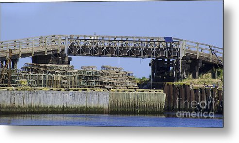 Lobster Pots Metal Print featuring the photograph Bridge Of Pots by Ruth H Curtis