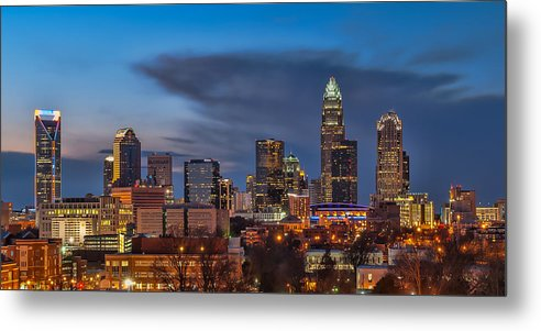 Charlotte Metal Print featuring the photograph Charlotte North Carolina by Brian Young