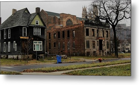 Chicago Metal Print featuring the photograph Desolation Row In Color by Andre Van Vegten