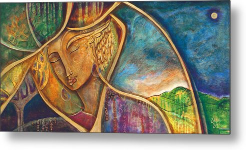 Divine Wisdom Metal Print featuring the painting Divine Wisdom by Shiloh Sophia McCloud