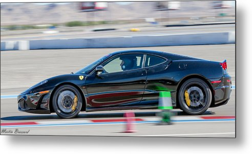 Ferrari Metal Print featuring the photograph Ferrari Racing by Martin Brassard