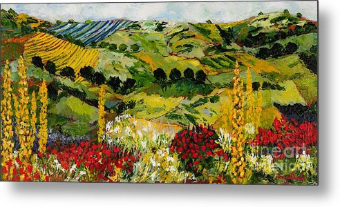 Landscape Metal Print featuring the painting Heavenly View by Allan P Friedlander