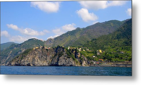 Italy Metal Print featuring the photograph Italian Coastline by Corinne Rhode