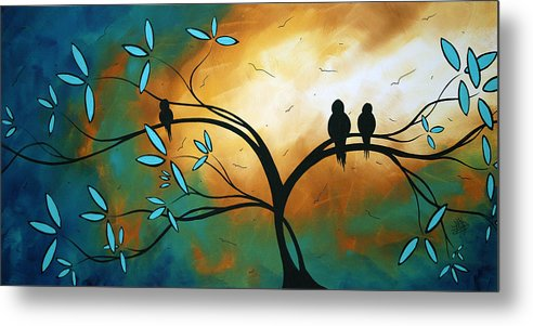 Art Metal Print featuring the painting Longing By Madart by Megan Duncanson