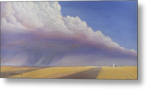 Landscape Metal Print featuring the painting Nebraska Vista by Jerry McElroy