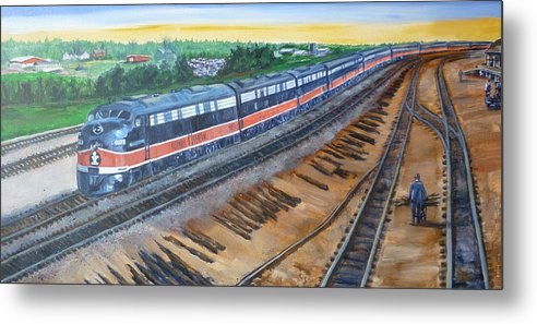 Train Metal Print featuring the painting The City Of New Orleans by Bryan Bustard