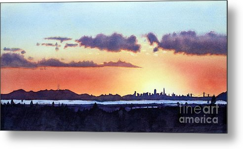 Bay Area Metal Print featuring the painting View From My Window by Janaka Ruiz