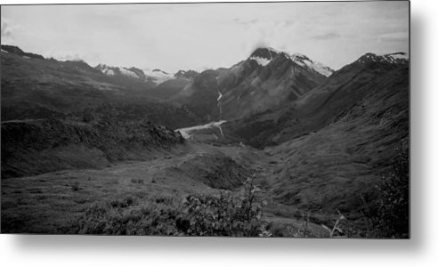 Photography Metal Print featuring the photograph Alaska Range 2 by Lynnette Johns