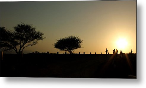 Silhouette Metal Print featuring the photograph And The Day Ends Quietly.. by Saurabh Shenai
