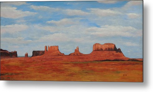 Monument Valley Metal Print featuring the painting Monument Valley by Bill Brauker