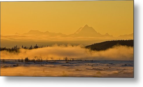 Tanana River Metal Print featuring the photograph Morning Fog by Jim and Kim Shivers