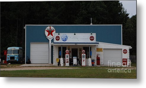 Texaco Metal Print featuring the photograph Texaco Gas Station by Grace Grogan