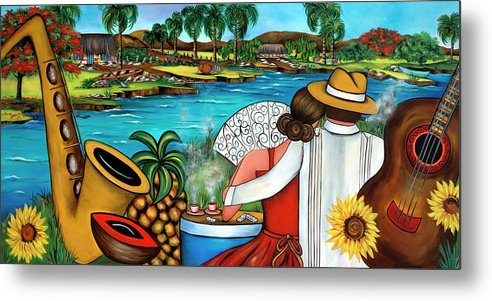 Cuba Metal Print featuring the painting A Place To Remember by Annie Maxwell