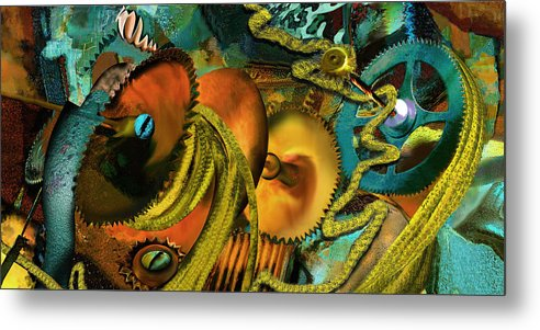 Science Metal Print featuring the painting The Riotous Rope by Anne Weirich
