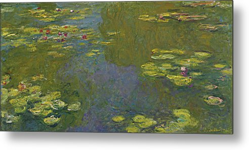 Claude Monet Metal Print featuring the painting Water Lily Pond by Claude Monet