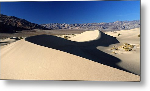 Death Valley Metal Print featuring the photograph Mesquite Sand Dunes In Death Valley National Park by Pierre Leclerc Photography