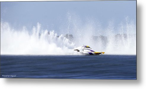 2016 Taree Race Boats Metal Print featuring the photograph 2016 Taree Race Boats 01 by Kevin Chippindall