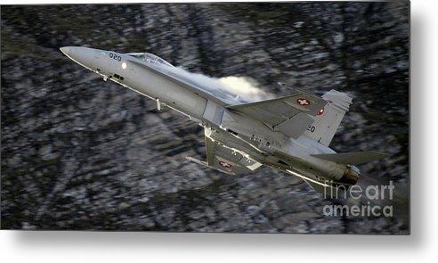 Aircraft Metal Print featuring the photograph Hornet by Angel Ciesniarska