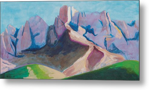 Landscape Metal Print featuring the painting Catalina Blue by Mordecai Colodner